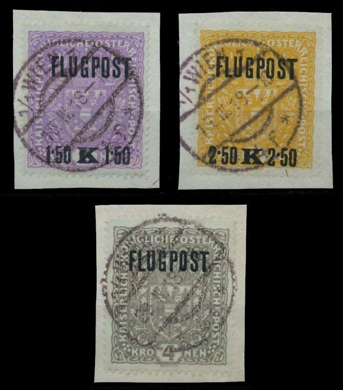 ÖSTERREICH 1918 Nr 225xIA-227xIA zentrisch gestempelt Briefst³ck 89C84A