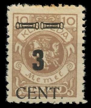 MEMEL 1923 Nr 186 ungebraucht 89C856