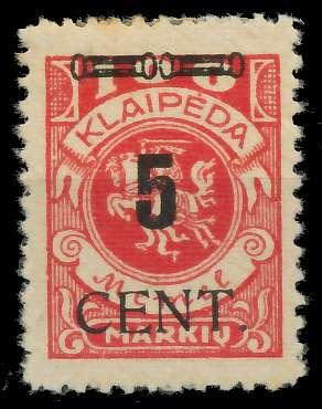 MEMEL 1923 Nr 188 ungebraucht 89C85A 0