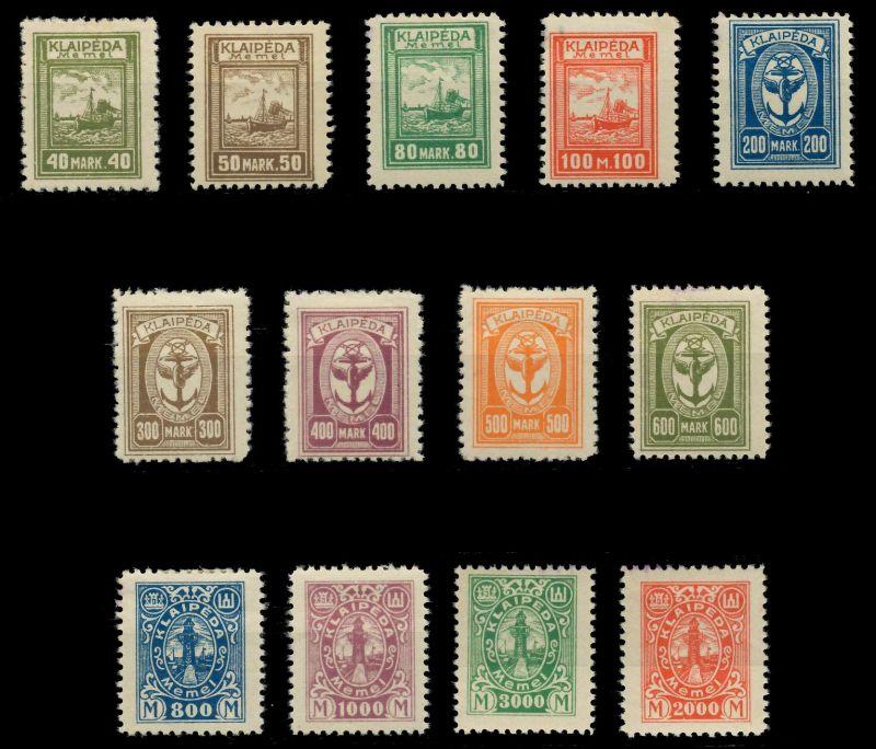 MEMEL 1923 Nr 151-163 ungebraucht 89C85E 0
