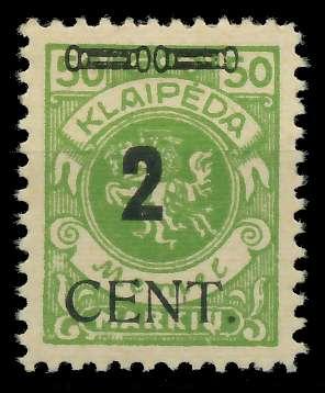 MEMEL 1923 Nr 185 ungebraucht 89C862 0