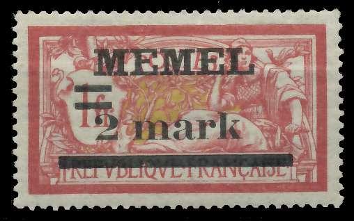 MEMEL 1920 Nr 28y ungebraucht 89C886 0