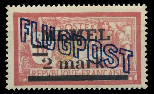 MEMEL 1921 Nr 44y ungebraucht 89C88E 0