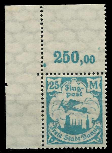 DANZIG 1923 Nr 134Y ungebraucht ECKE-OLI 89C8A2
