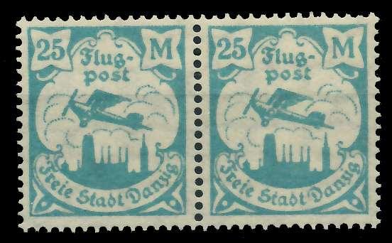 DANZIG 1923 Nr 133Y postfrisch WAAGR PAAR 89C8EA