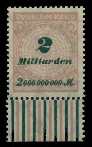 DEUTSCHES REICH 1923 HOCHINFLA Nr 326A postfrisch URA 89C8F2
