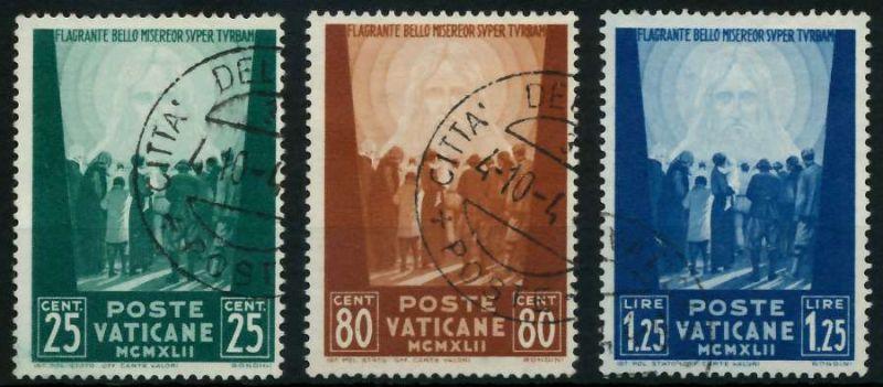 VATIKAN 1942 Nr 89-91 gestempelt 7C4A3A