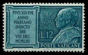 VATIKAN 1954 Nr 217 postfrisch 7C4C6E
