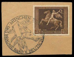 DEUTSCHES REICH 1938 Nr 671y zentrisch gestempelt Briefst³ck 8B0186