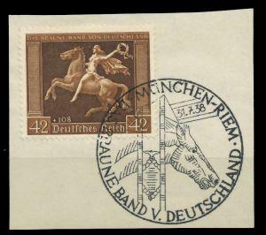 DEUTSCHES REICH 1938 Nr 671y zentrisch gestempelt Briefst³ck 8B018A