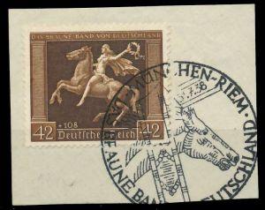 DEUTSCHES REICH 1938 Nr 671y zentrisch gestempelt Briefst³ck 8B018E