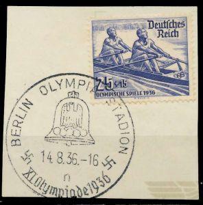 DEUTSCHES REICH 1936 Nr 615 zentrisch gestempelt Briefst³ck 8B01DA