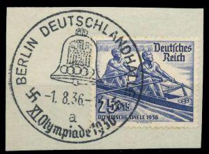 DEUTSCHES REICH 1936 Nr 615 zentrisch gestempelt Briefst³ck 8B01DE