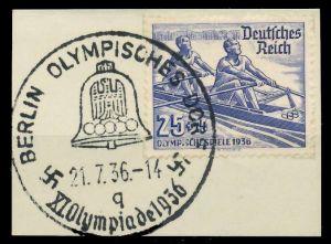 DEUTSCHES REICH 1936 Nr 615 zentrisch gestempelt Briefst³ck 8B01E6