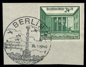 DEUTSCHES REICH 1940 Nr 743 zentrisch gestempelt Briefst³ck 8B0246