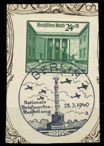 DEUTSCHES REICH 1940 Nr 743 zentrisch gestempelt Briefst³ck 8B024E