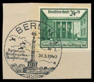 DEUTSCHES REICH 1940 Nr 743 zentrisch gestempelt Briefst³ck 8B0252