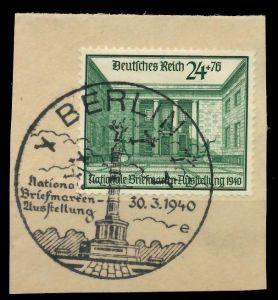 DEUTSCHES REICH 1940 Nr 743 zentrisch gestempelt Briefst³ck 8B026A