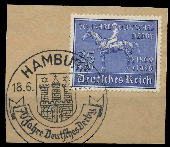 DEUTSCHES REICH 1939 Nr 698 zentrisch gestempelt Briefst³ck 8B02A2