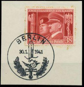 DEUTSCHES REICH 1941 Nr 763 zentrisch gestempelt Briefst³ck 8B033E