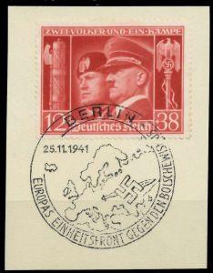 DEUTSCHES REICH 1941 Nr 763 zentrisch gestempelt Briefst³ck 8B034E