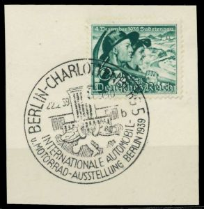 DEUTSCHES REICH 1938 Nr 684y zentrisch gestempelt Briefst³ck 8B042E