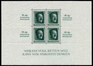 DEUTSCHES REICH 1937 Block 9 postfrisch 8B046A