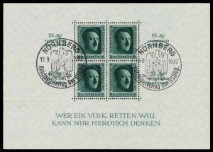 DEUTSCHES REICH 1937 Block 11 zentrisch gestempelt 8B04B6