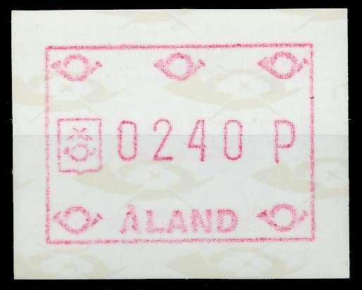 ALAND ATM Nr ATM2-240 postfrisch 7E63B2 0