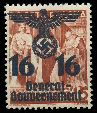 GENERALGOUVERNEMENT Nr 34a postfrisch 8B5196