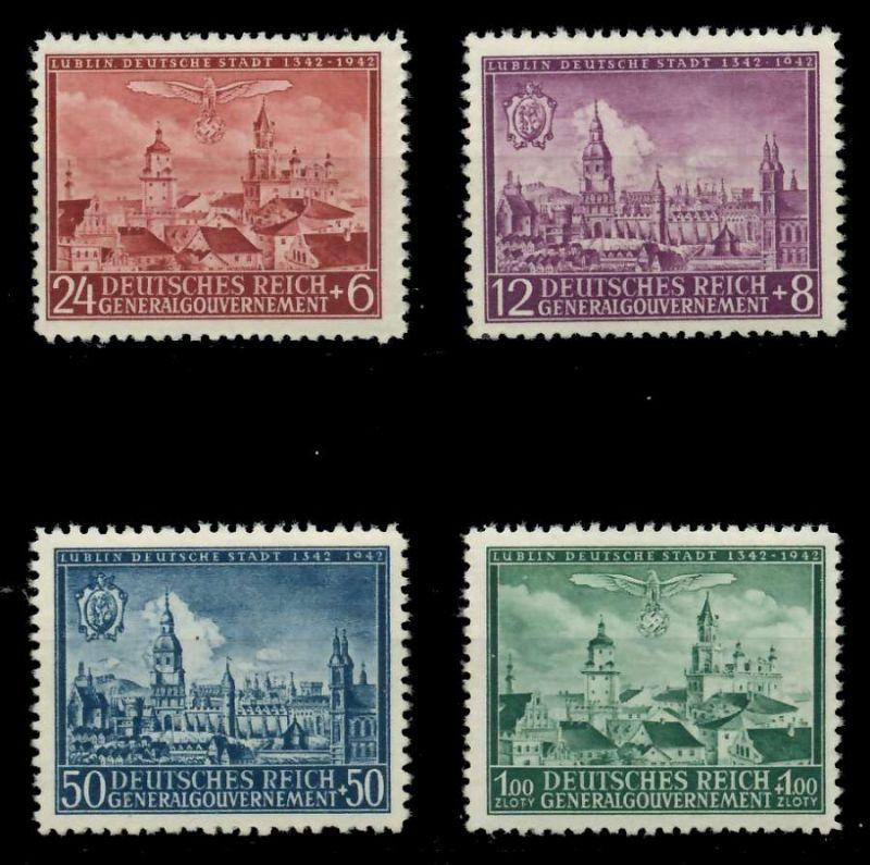 GENERALGOUVERNEMENT 1942 Nr 92-95 postfrisch 8B519E