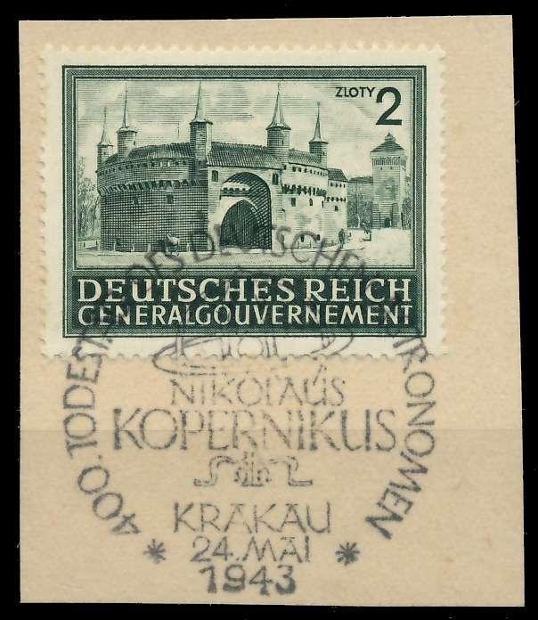 GENERALGOUVERNEMENT 1943 Nr 113 zentrisch gestempelt Briefst³ck 8B51A2