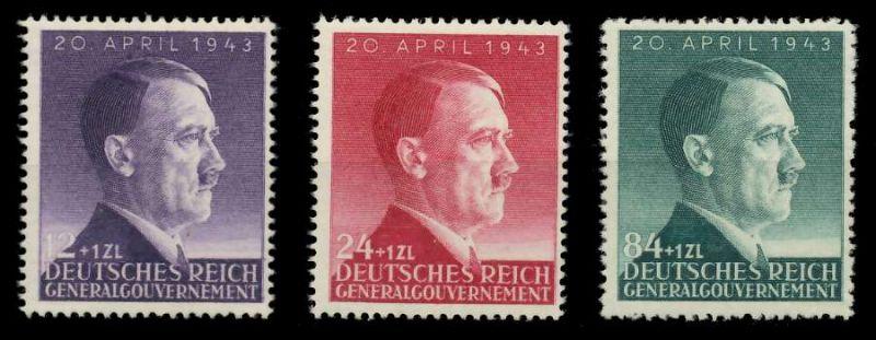 GENERALGOUVERNEMENT 1943 Nr 101-103 postfrisch 8B51A6