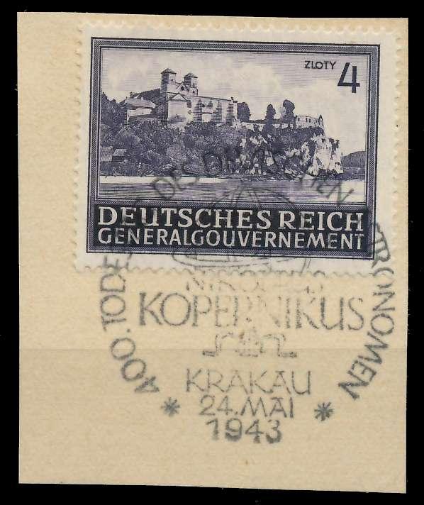 GENERALGOUVERNEMENT 1943 Nr 114 zentrisch gestempelt Briefst³ck 8B51AA
