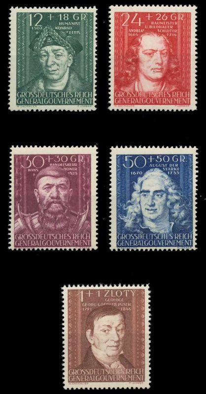 GENERALGOUVERNEMENT 1944 Nr 120-124 postfrisch 8B51B6