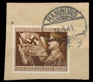 DEUTSCHES REICH 1944 Nr 865 zentrisch gestempelt Briefst³ck 8B525E