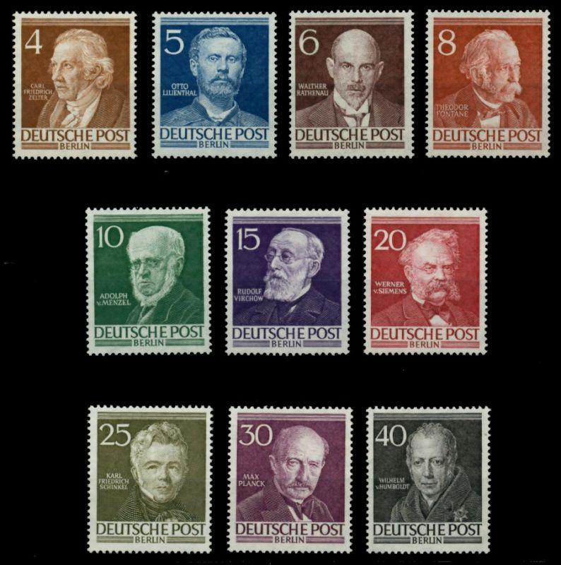 BERLIN 1952 Nr 91-100 postfrisch 6E101E