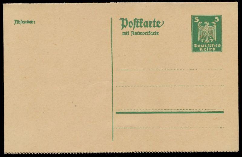 DEUTSCHES REICH Nr P158II UNGEBRAUCHT POSTKARTE 8C3502 0