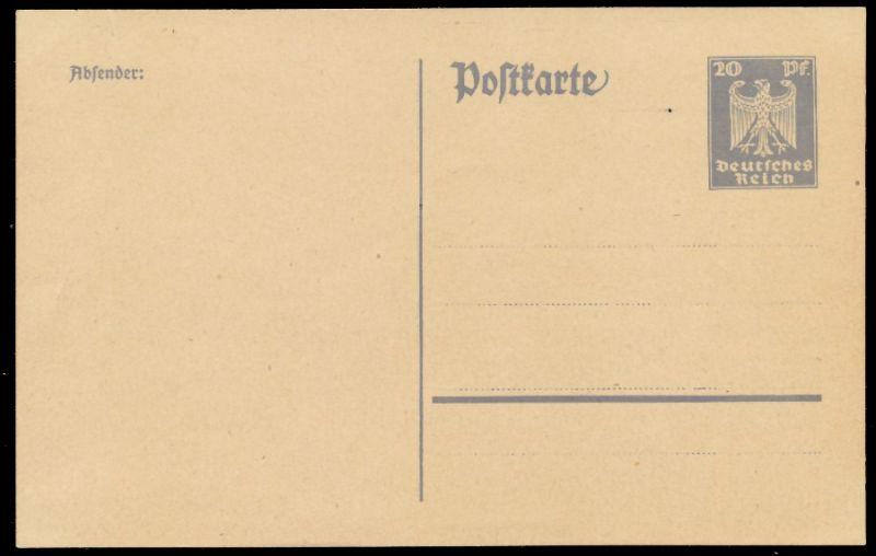 DEUTSCHES REICH Nr P157I UNGEBRAUCHT POSTKARTE 8C351A