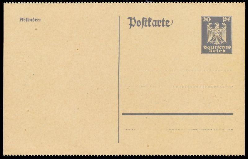 DEUTSCHES REICH Nr P157II UNGEBRAUCHT POSTKARTE 8C351E 0