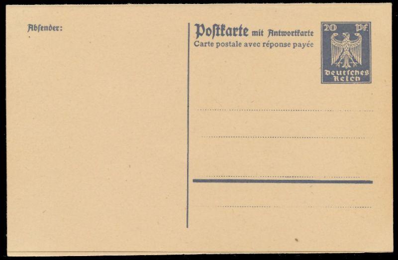 DEUTSCHES REICH Nr P159 UNGEBRAUCHT POSTKARTE 8C3522 0