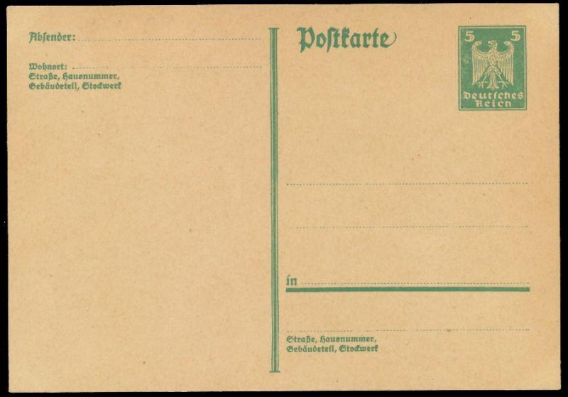 DEUTSCHES REICH Nr P165I UNGEBRAUCHT POSTKARTE 8C352E