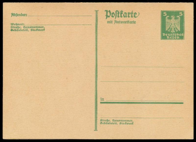 DEUTSCHES REICH Nr P167I UNGEBRAUCHT POSTKARTE 8C354A 0