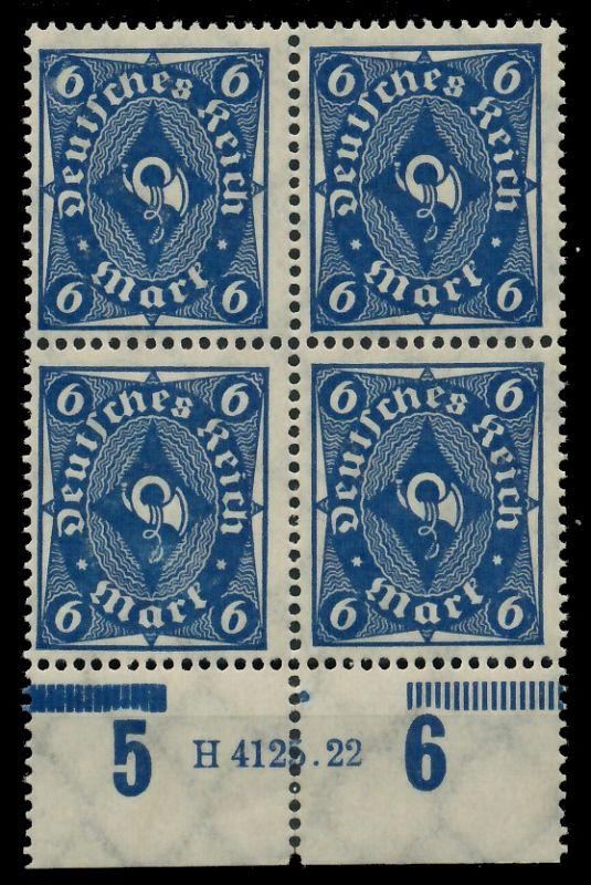 D-REICH 1922 INFLA Nr 228P HAN 4125.22 postfrisch VIERE 8CCAAA