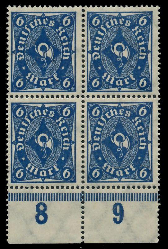 D-REICH 1922 INFLA Nr 228P postfrisch VIERERBLOCK URA 8CCAB2