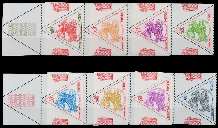 MONACO PORTOMARKEN Nr 67-74 postfrisch ORA 8CCAC2