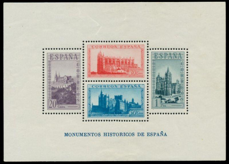 SPANIEN Block 9A Einzelmarken postfrisch ungebraucht 8CCACA