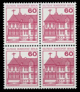 BERLIN DS BURGEN U. SCHLÖSSER Nr 611 postfrisch VIERERB 8F14DE