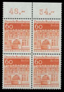BERLIN DS D-BAUW. 2 Nr 278 postfrisch VIERERBLOCK ORA 8F9276