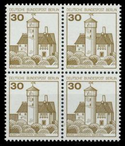 BERLIN DS BURGEN U. SCHLÖSSER Nr 534 postfrisch VIERERB 8F95BA